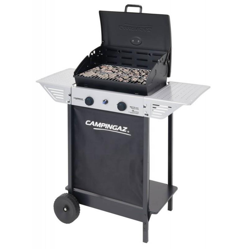 BARBECUE A GAS CON sistema di cottura a roccia lavica, coperchio/forno, per grigliare tramite cottura diretta e indiretta. (SPAZZOLA PULIZIA OMAGGIO)