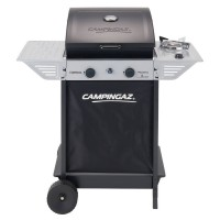 BARBECUE A GAS CON fornello laterali e sistema di cottura a roccia lavica, coperchio/forno, per grigliare tramite cottura diretta e indiretta. (SPAZZOLA PULIZIA OMAGGIO)