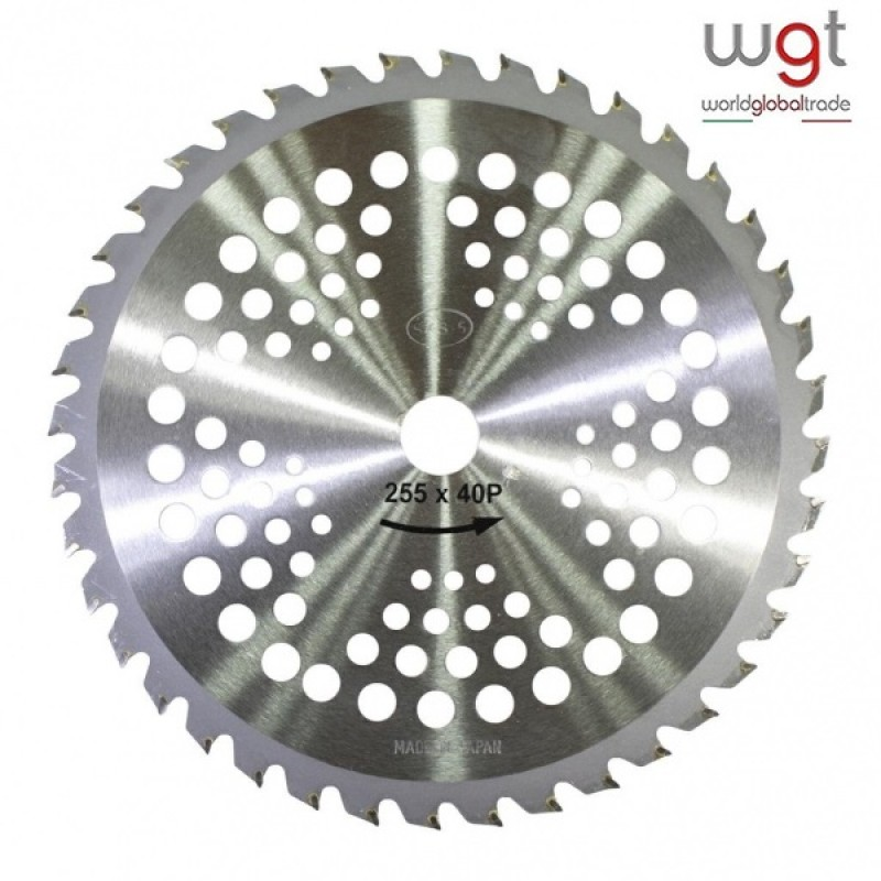 DISCO WIDIA PER DECESPUGLIATORE professionale acciaio SKS-5 - 40 denti - Foro mm 25,4 - Spessore mm 2,0 - Adatto per taglio rovi e arbusti
