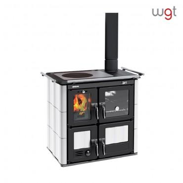 Cucina a legna Lincar BEA 702A GL a fiamma visibile con forno (rivestimento in ceramica)