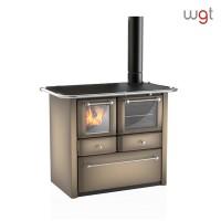 Cucina a legna LINCAR GAIA 149 AV a fiamma visibile con forno (rivestimento acciaio porcellanato)